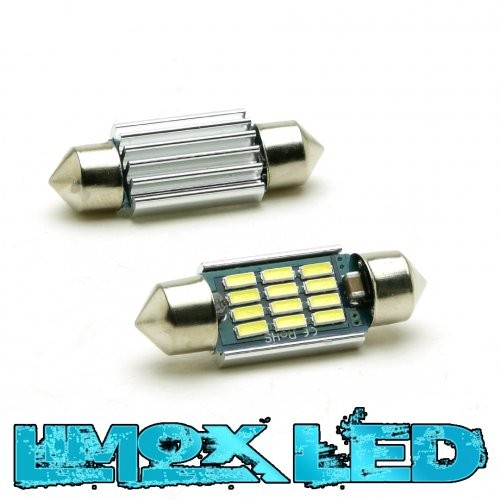 Soffitte 12V C5W 39mm LED 12x 4014 SMD Canbus Weiss